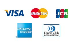 VISA,Master Card,JCB,AMERICAN EXPRESS,Diners Club
