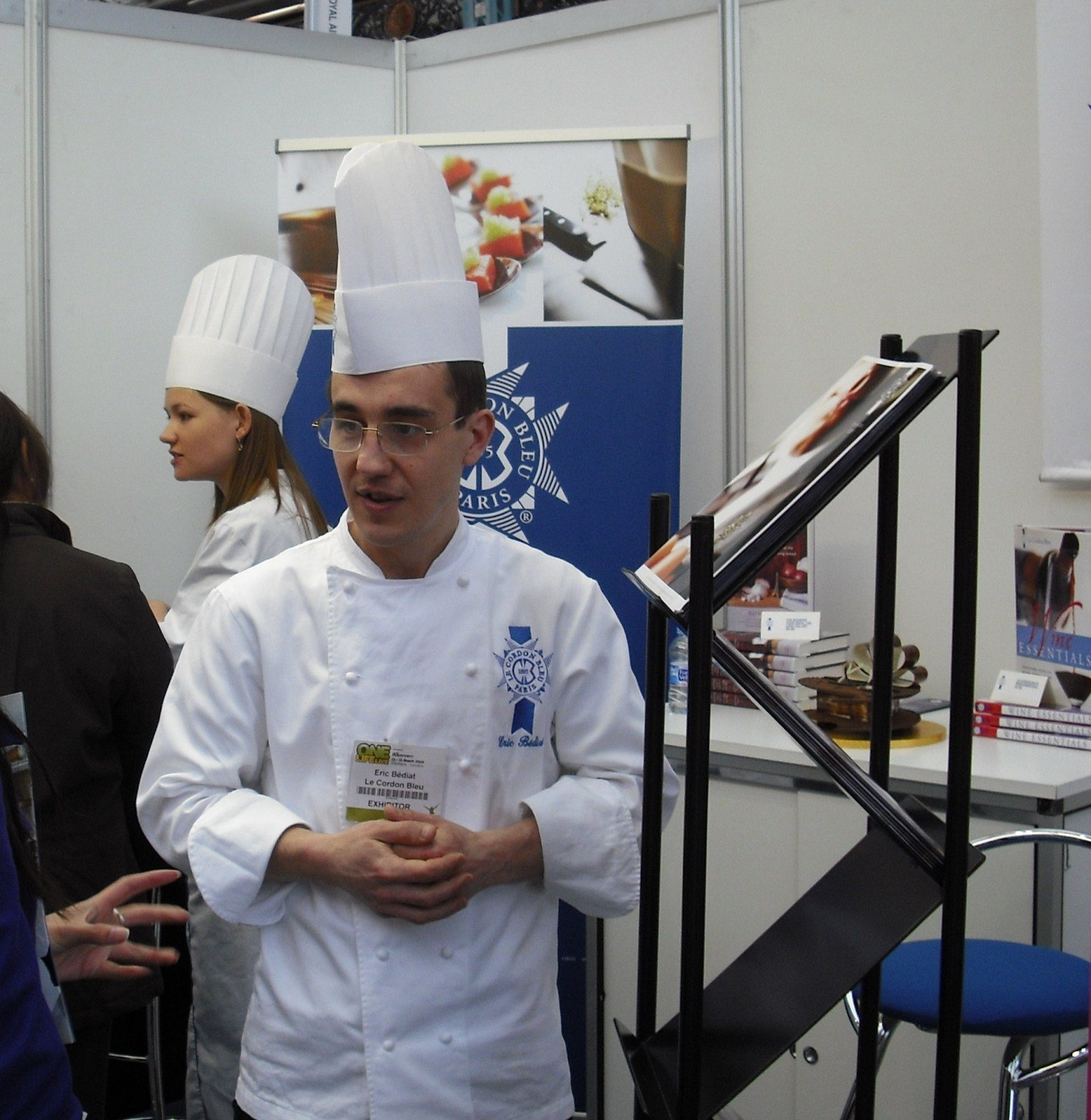 Chef Eric Bediat at the One Life Live exhibition, representing Le Cordon Bleu London
