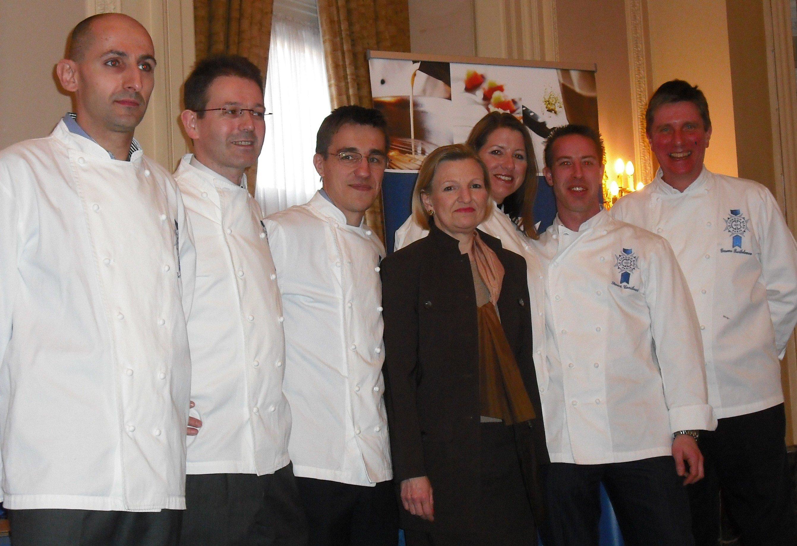 Le Cordon Bleu London chefs and Principal, Ms Lesley Gray
