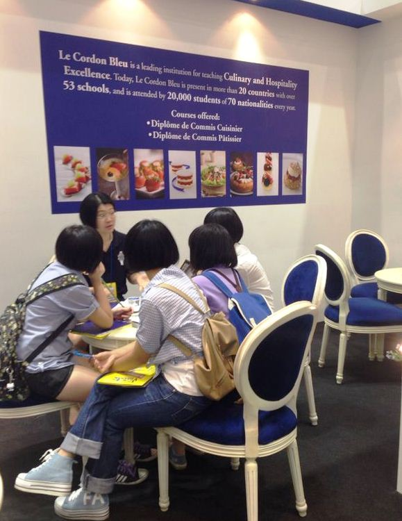Enquiry at Le Cordon Bleu Malaysia's booth