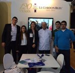 Chef Mahut and Le Cordon Bleu team at Horeca fair