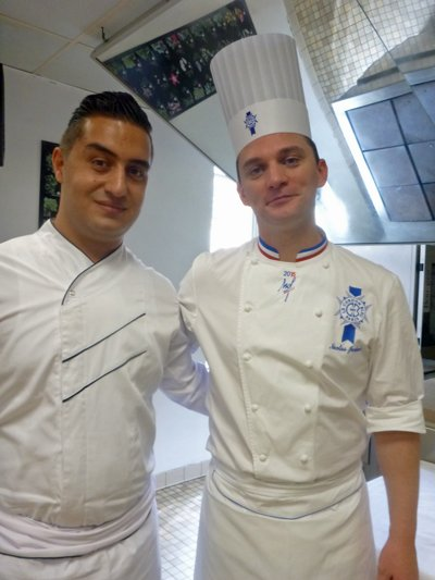 Chef Houssein Akanan and Chef Jordan