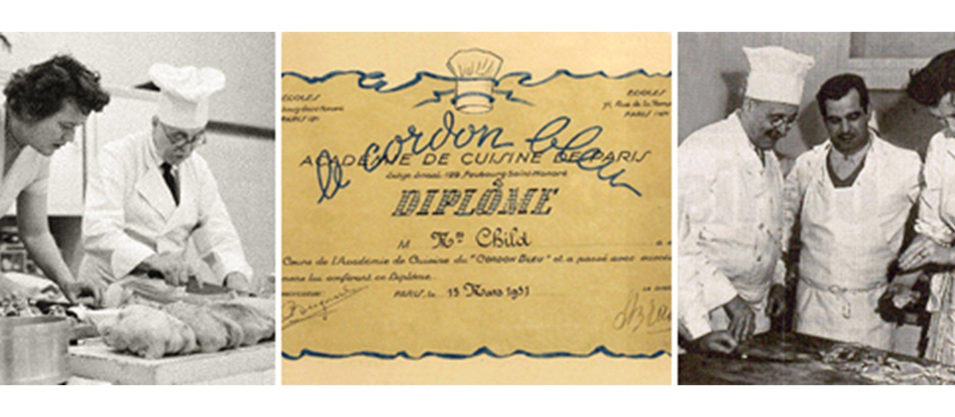 Photos of Julia Child Attending Classes At Le Cordon Bleu Paris