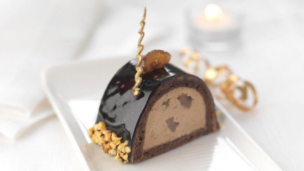 recette Le Cordon Bleu Buche de Noël au marron, chocolat et rhum