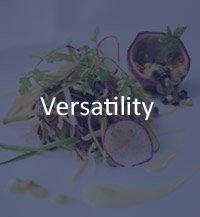 versatility cuisine chef