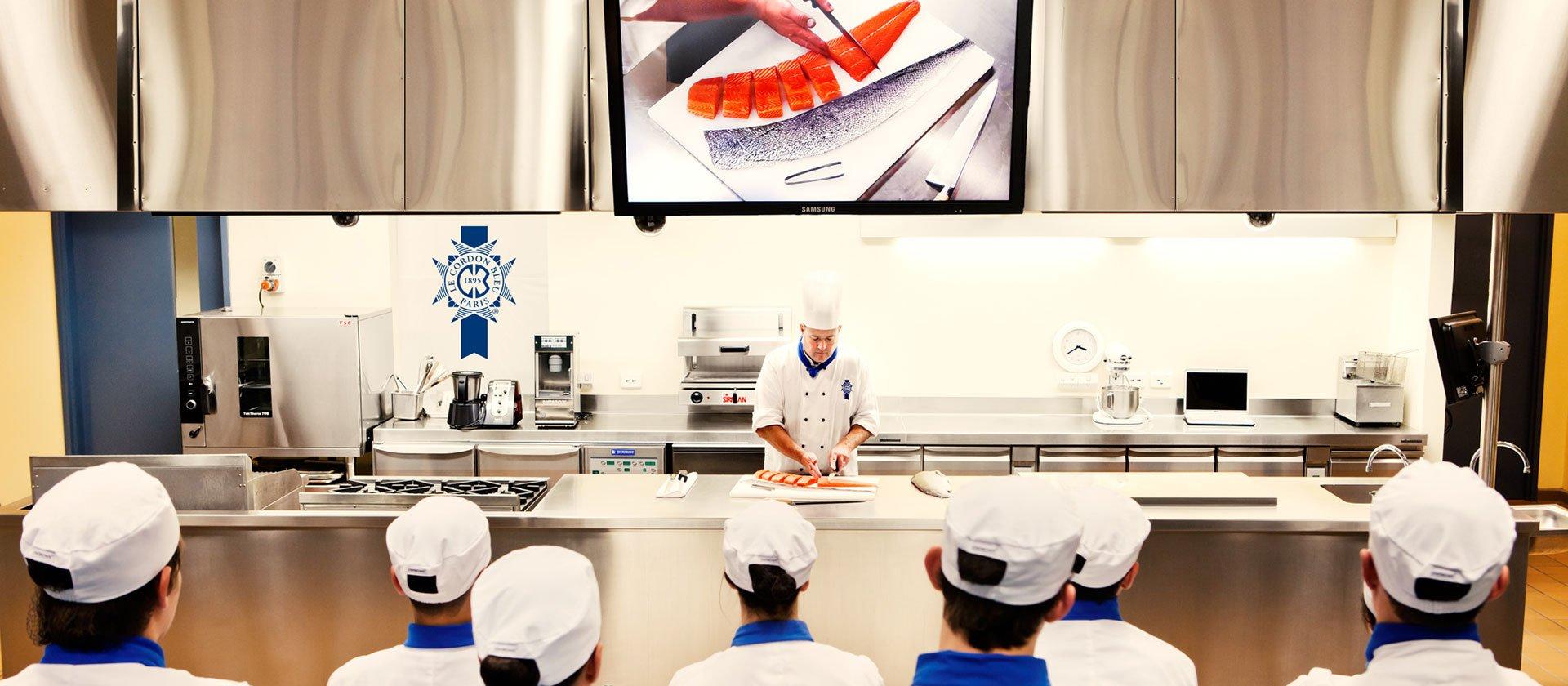 Le Cordon Bleu Australia demonstration kitchen