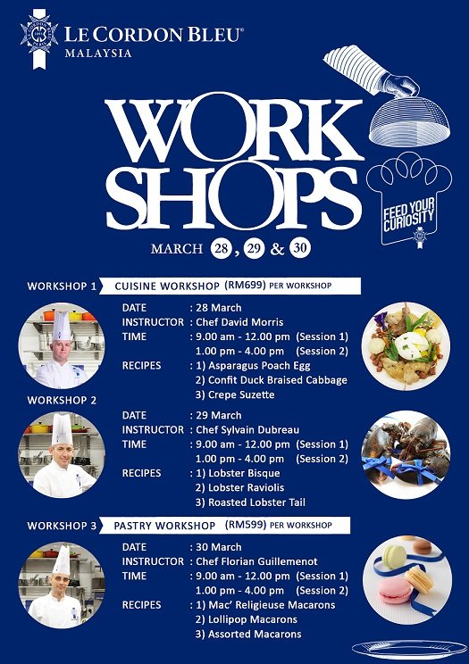 March 2016 Workshop Schedule
