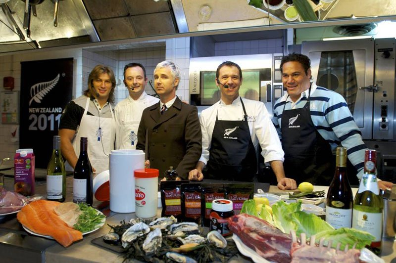 Dimitri Szarzewski, Le Cordon Bleu Chef Philippe Clergue, Chef Hamish Brown and Chris Masoe