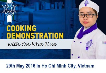 Cooking Demonstration with On Nha Hue, Vietnam