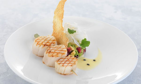 Le Cordon Bleu recipe Grilled Scallops