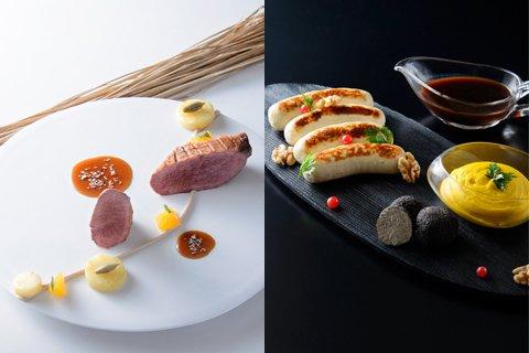 サブリナ:料理 鴨のローストとブーダンブラン