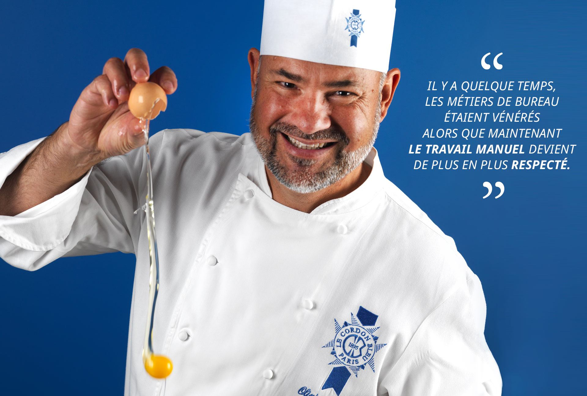 Chef pâtissier Olivier Mahut