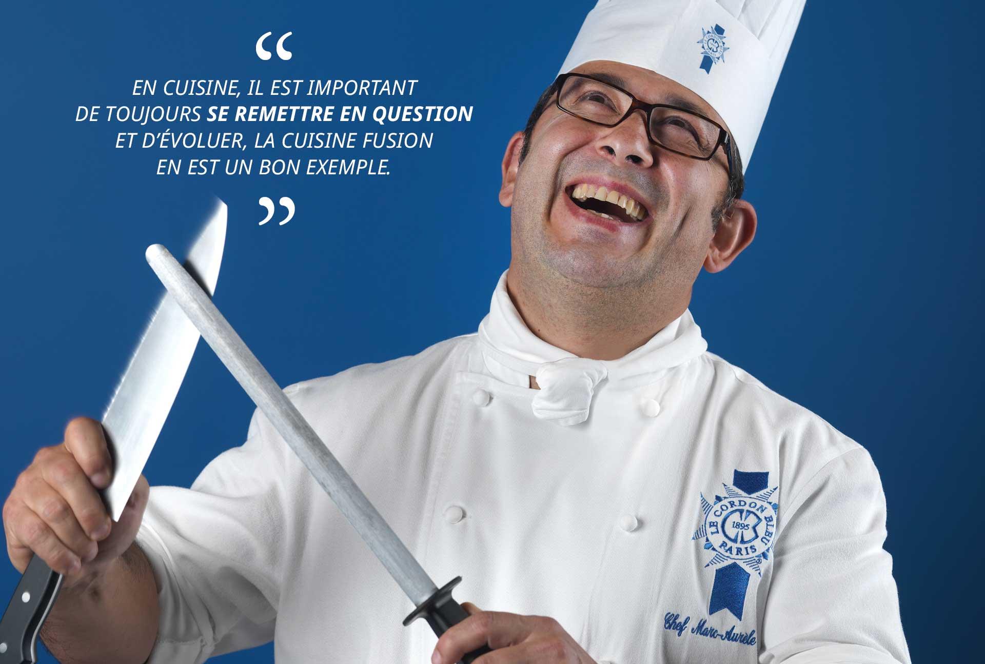 Chef cuisinier Marc Vaca
