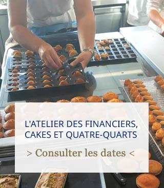 atelier des financiers, cakes et quatre quarts