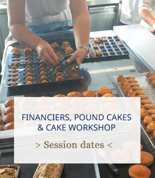 financiers, pound cakes and cakes workshop