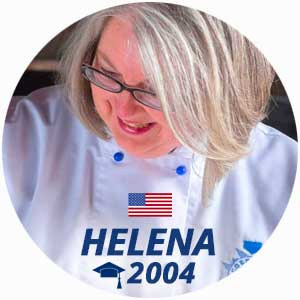 Helena Williams diplome cuisine 2004