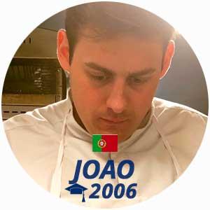 Joao Duarte diplome cuisine 2006