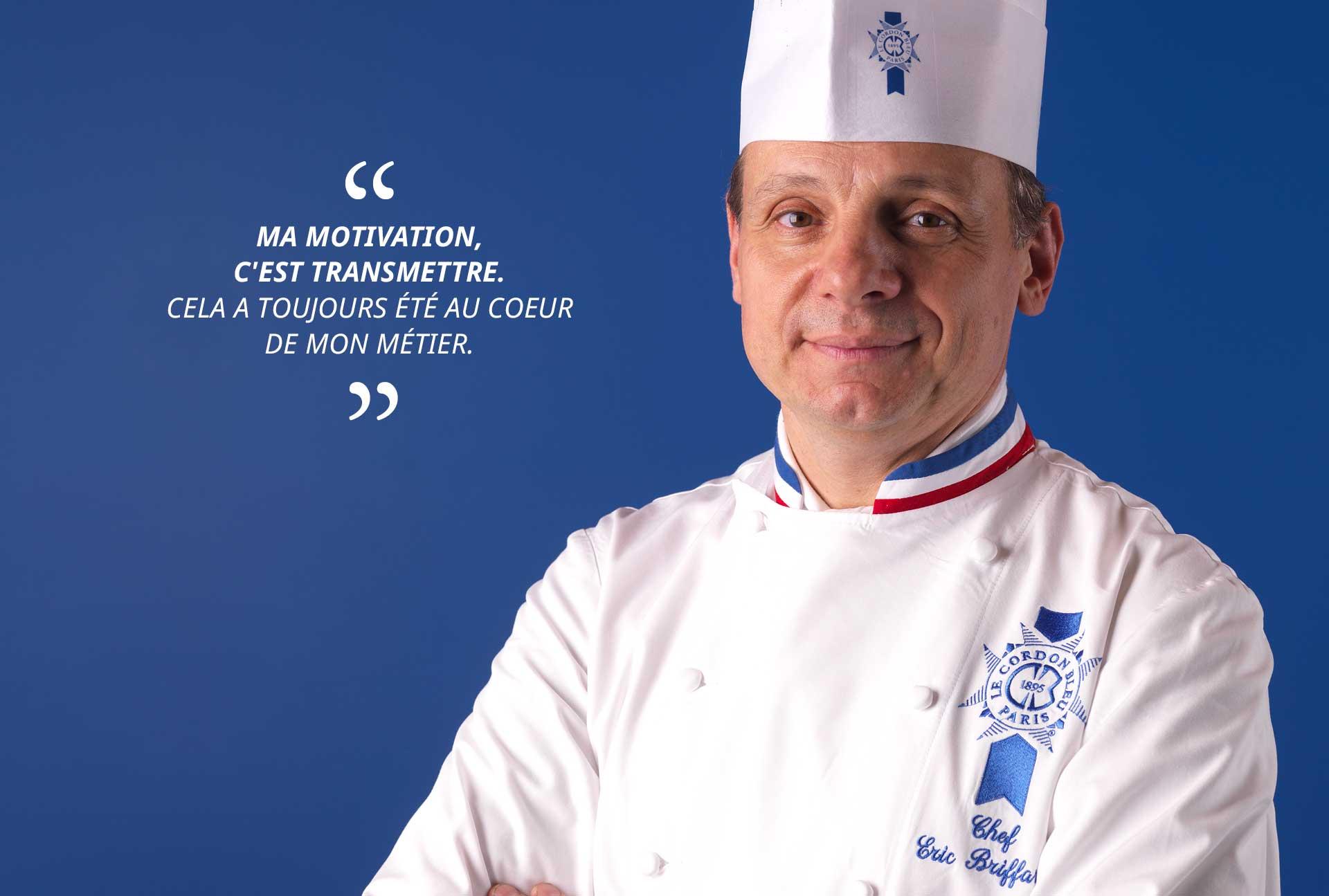 Eric Briffard, directeur arts culinaires Le Cordon Bleu Paris