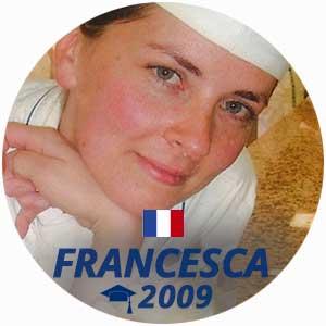 Francesca Fiorentini diplome pâtisserie 2009