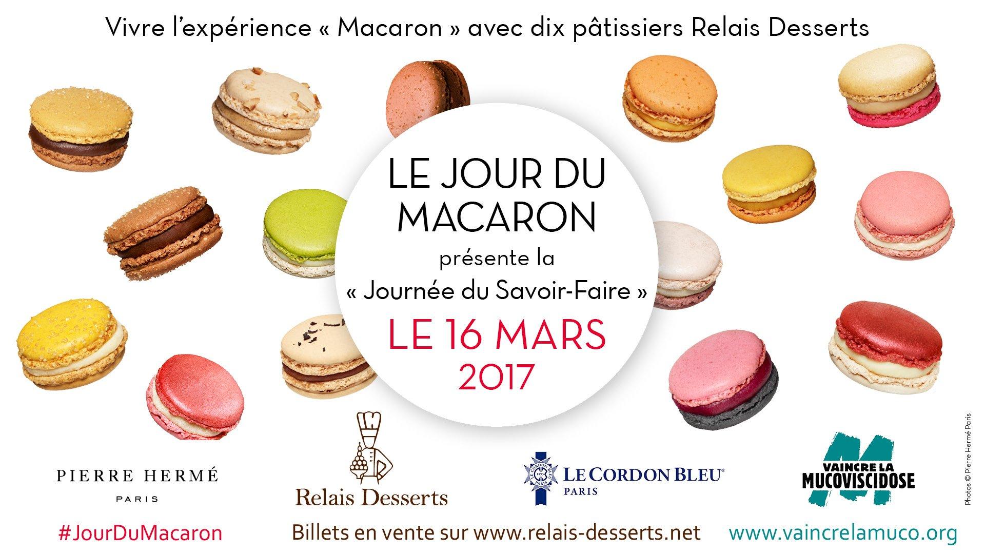 Jour du macaron 2017 Pierre Hermé Relais Desserts Le Cordon Bleu Paris