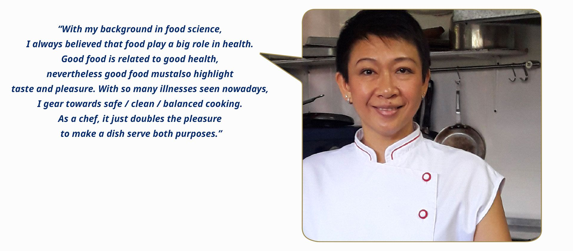 Montana Pawittranon (Thailand), chef, consultant and entrepreneur