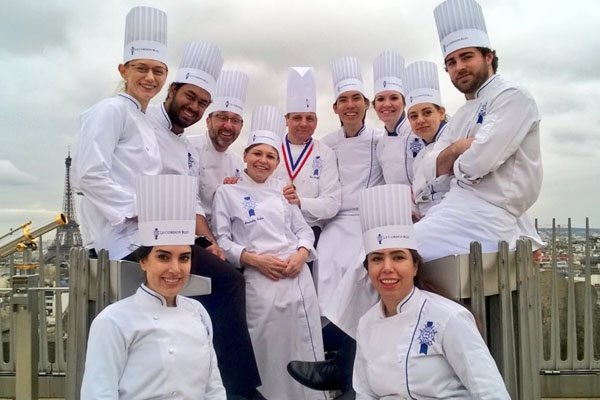 Eric Briffard and Le Cordon Bleu Paris students