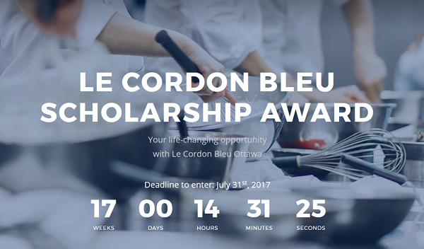 Le Cordon Bleu Ottawa Scholarship