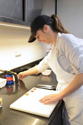 étudiante diplôme cuisine stage