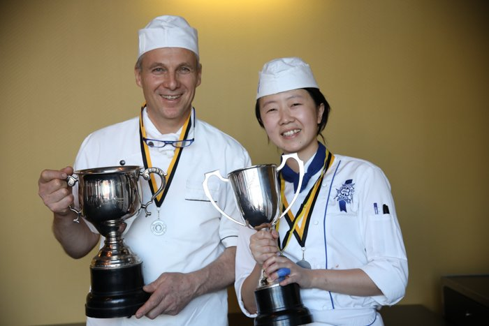 Lingie Tu & Chef of the Capital and Le Cordon Bleu New Zealand Chef Lecturer Francis Motta