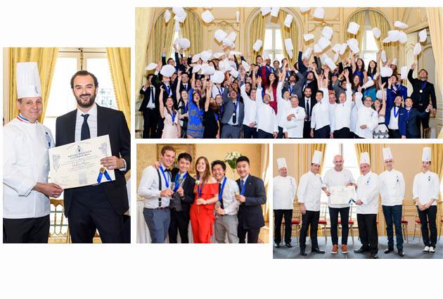 étudiants diplômés Le Cordon Bleu Paris