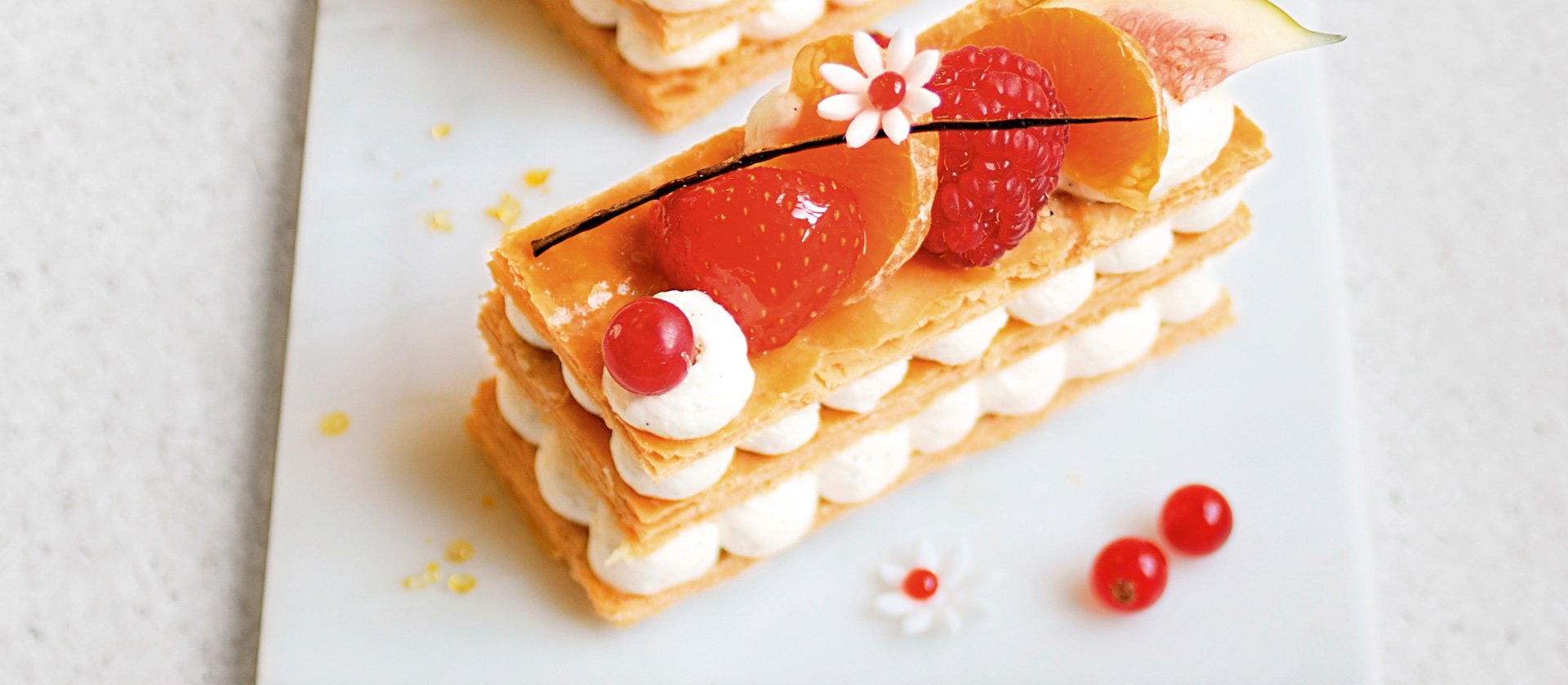 2017 Bastille Day recipe: vanilla Chantilly and fresh fruit mille-feuille