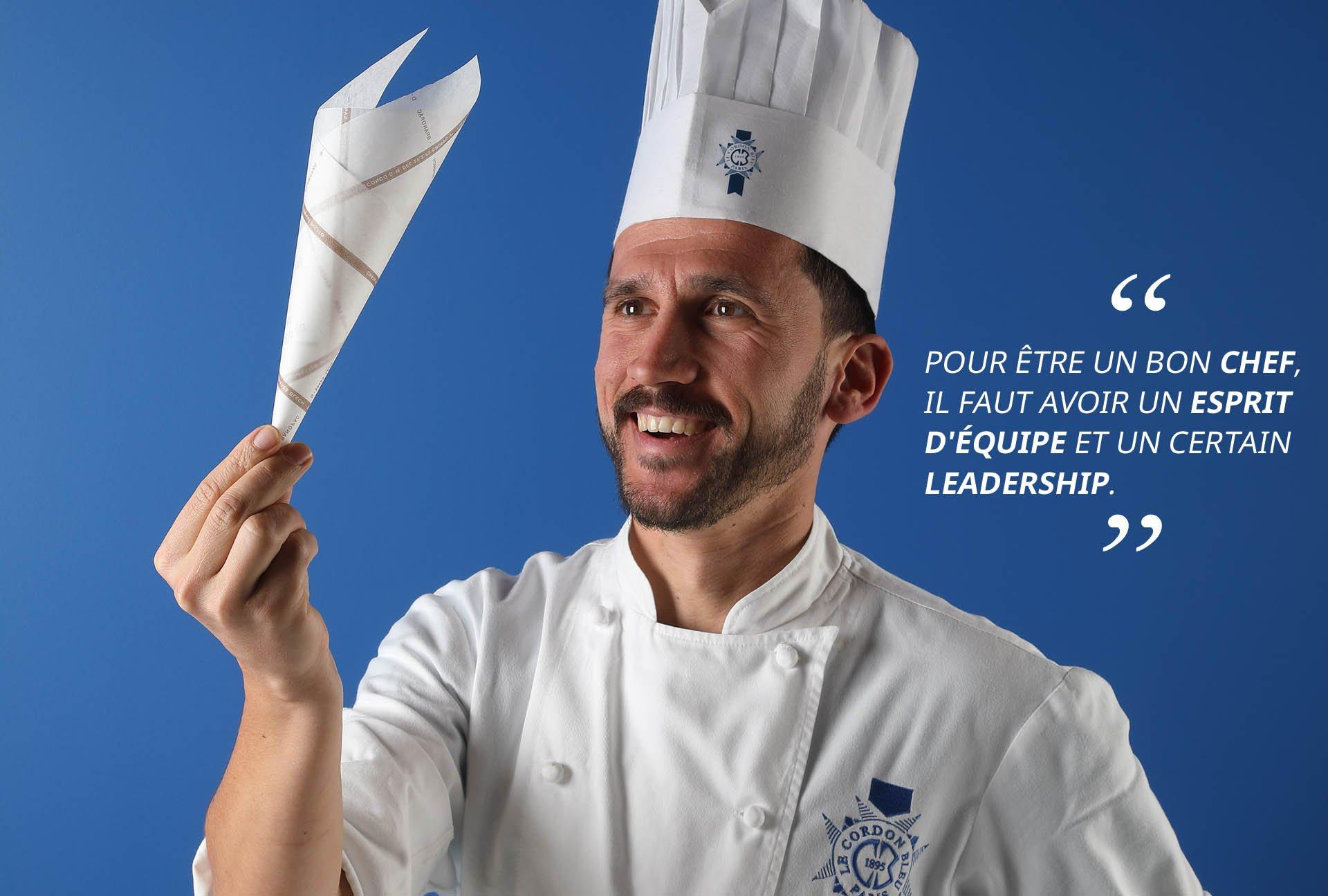 Chef pâtissier Guillaume Sinden