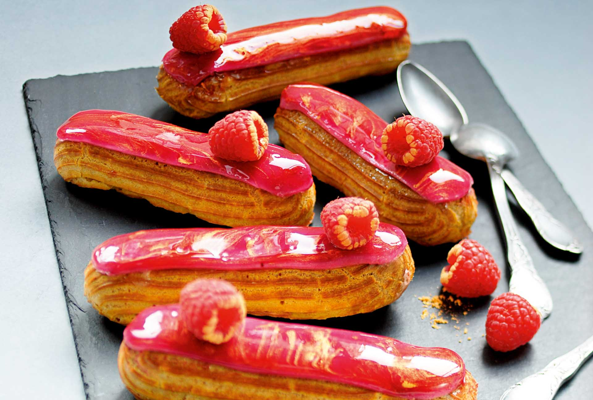 recipe chocolate-raspberry eclair