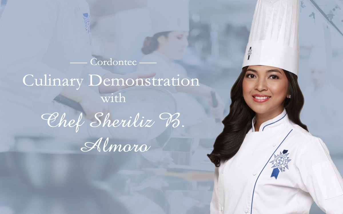 Cordontec Culinary Demonstration with Le Cordon Bleu Master Chef Sheriliz B. Almoro