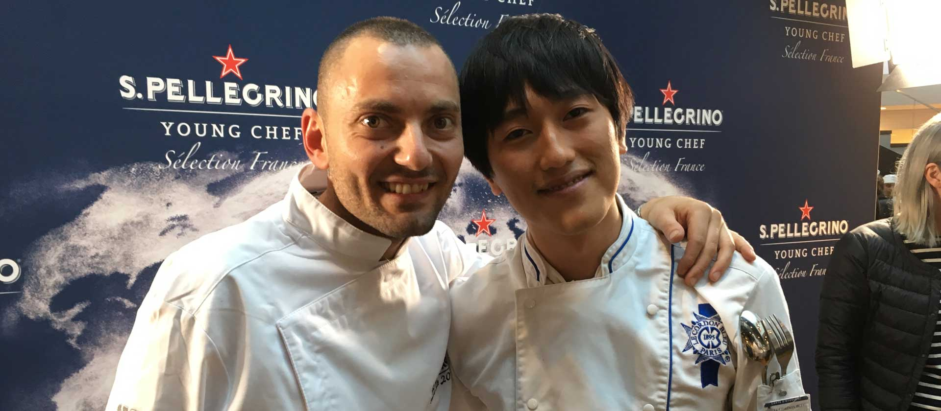 Antonio Buono et son commis Le Cordon Bleu Paris, Juho