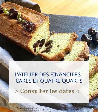 atelier financiers, cakes et quatre quarts