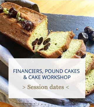 workshop financier cake and pound cakes