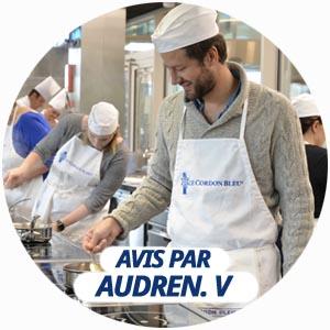 avis cours de cuisine Audren De Valbray