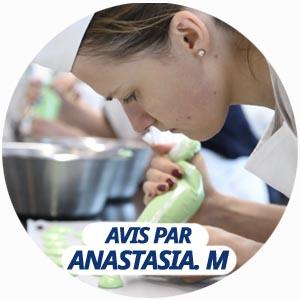 avis atelier culinaire par Anastasia Mitina