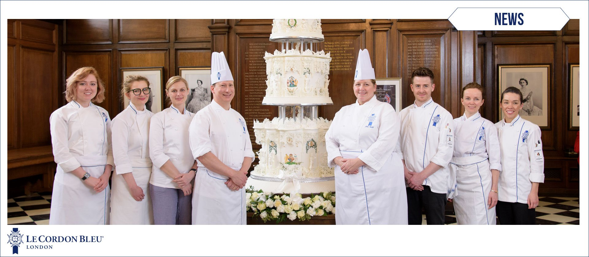 Showcasing the Royal Wedding cake made by Le Cordon Bleu Team