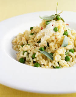 Recipe - Summer pea and sage risotto