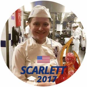 Scarlett Tyrell diplome pâtisserie 2017