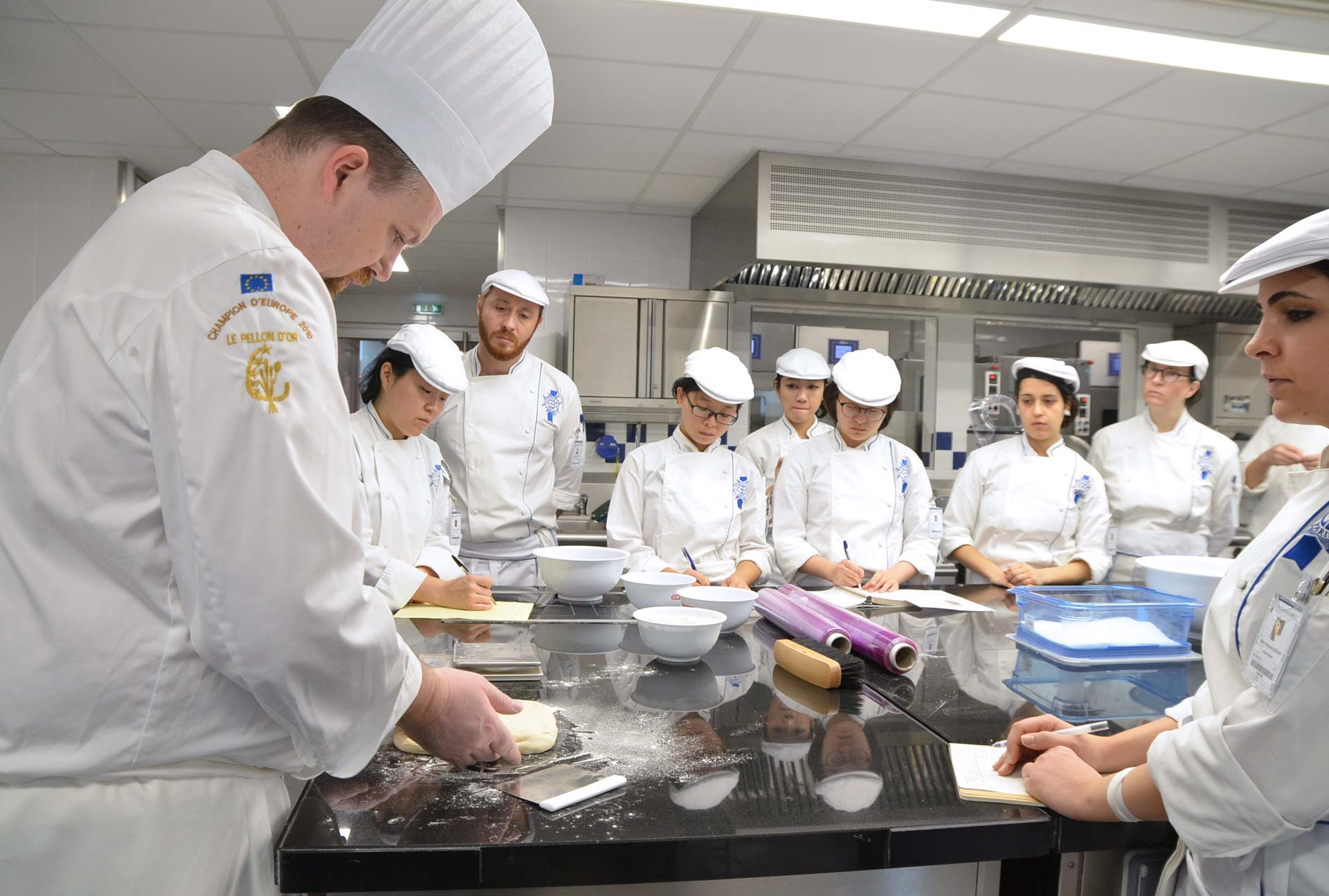 Chef Boudot and the boulangerie students