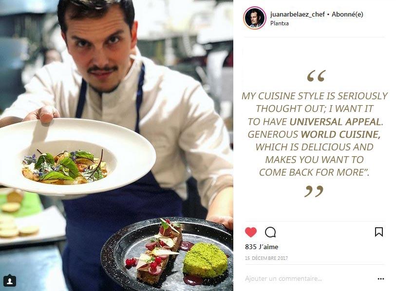Chef Arbelaez, cuisine chef at Limon restaurant in Paris