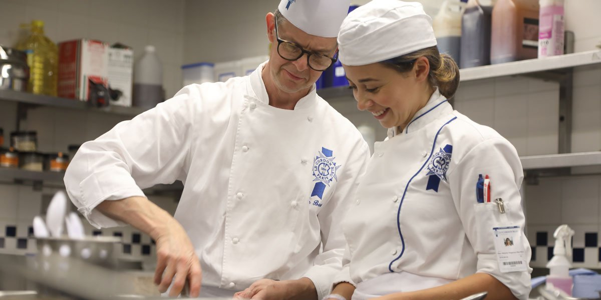 chef colin barret and le cordon bleu london student
