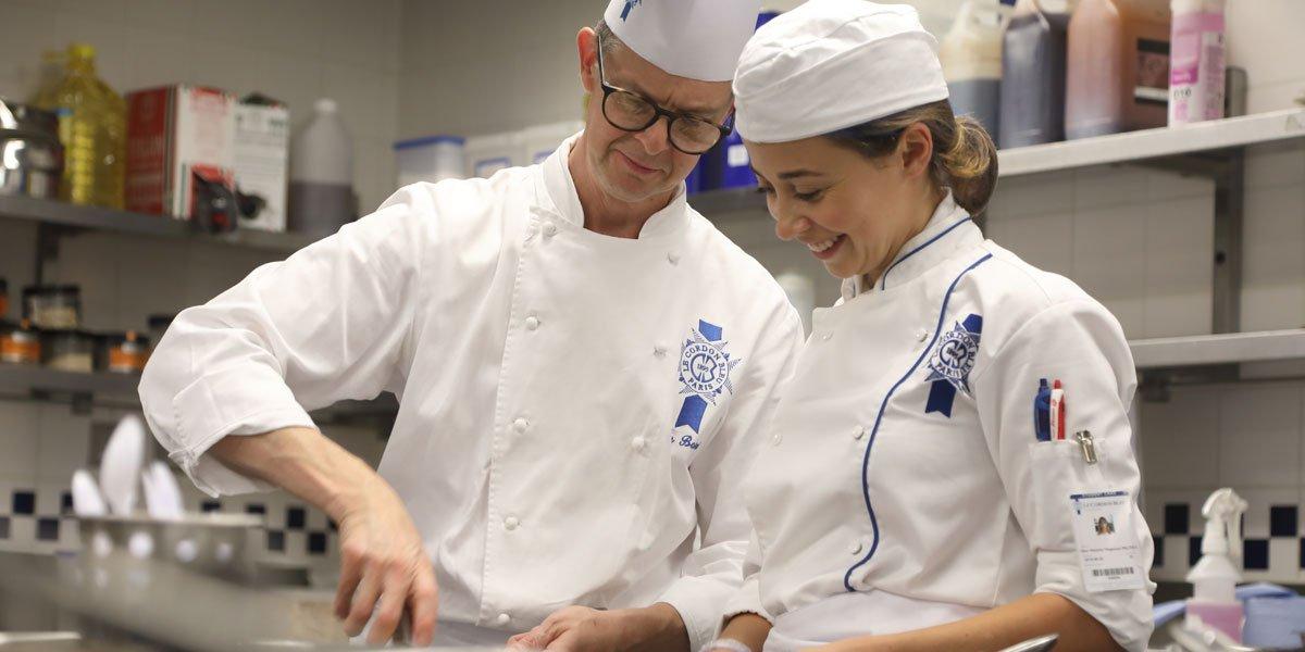 chef colin barret and le cordon bleu london student
