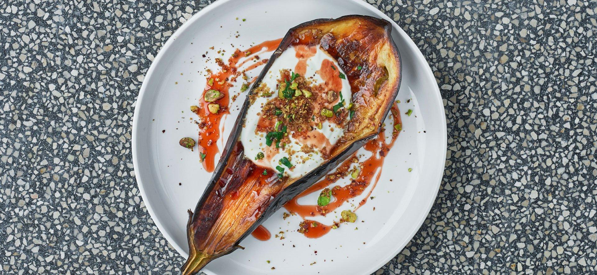 aubergine dish by Eran Tibi