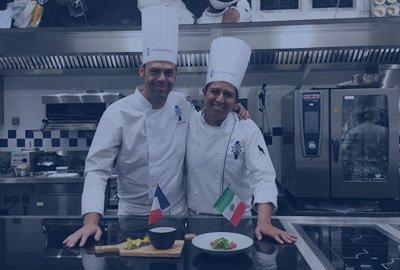 Chefs Aldo Omar Morales et Cédric Carême, Le Cordon Bleu Mexico