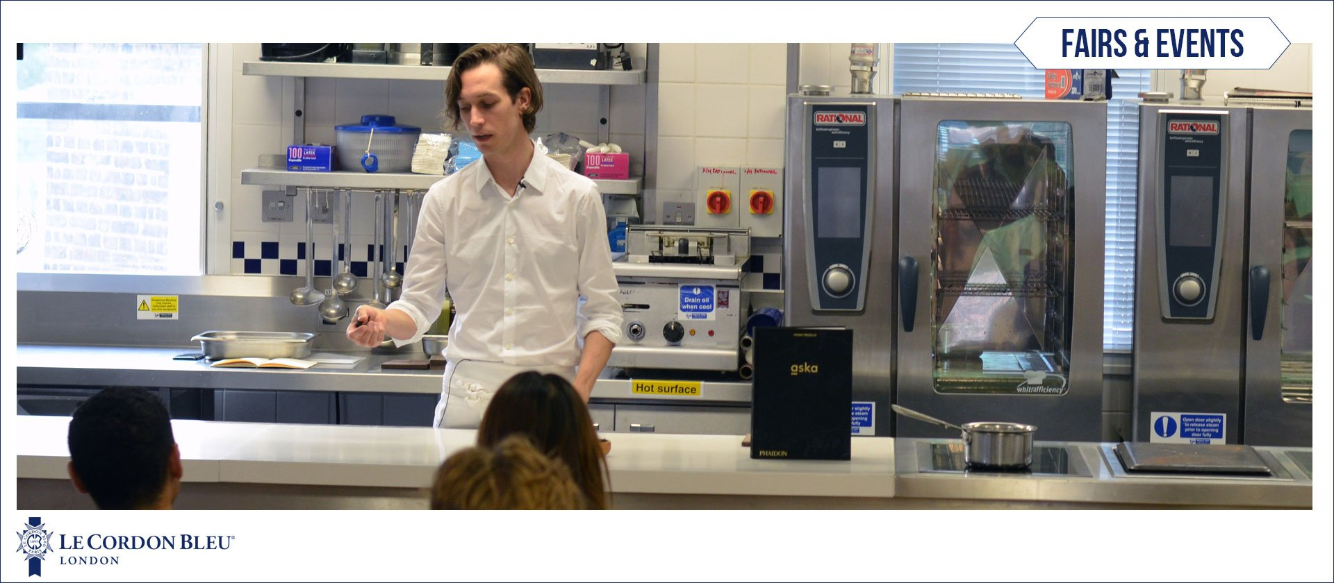 Fredrik Berselius - ASKA book launch at Le Cordon Bleu London