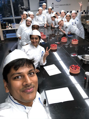 pastry class at Le Cordon Bleu Paris